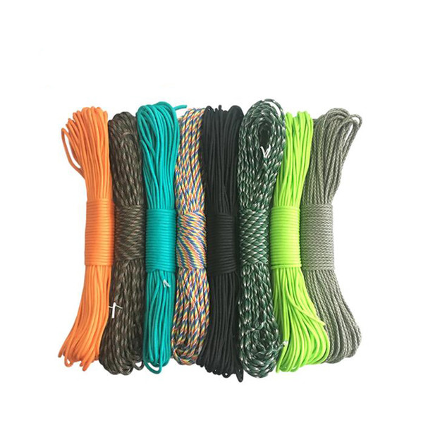 416 colors Paracord 550 Parachute Cord Lanyard Rope Mil Spec Type 7 Strand Cord 100FT 31m Climbing Camping survival equipment