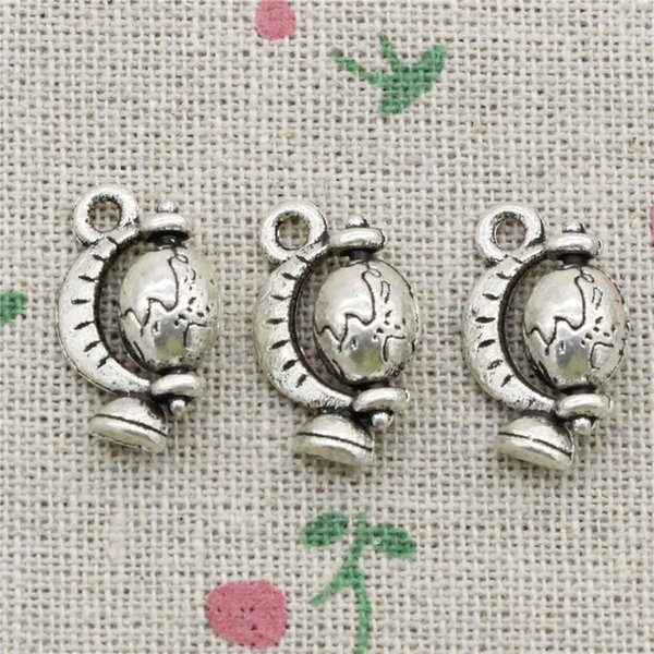 54pcs Charms Antique Silver tellurian globe 17*12mm Pendant,Zinc Alloy Charms Pendant DIY Makeing Jewelry Bracelet Necklace Fittings