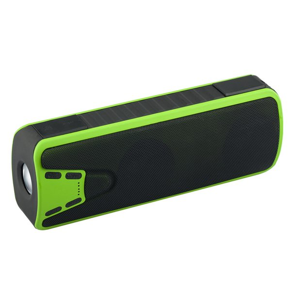 Wholesale-Rosimee Waterproof Portable Wireless Bluetooth Speaker 4000mAh Power bank Touch Stereo Speakers Sound Box With FM Mic LED Light