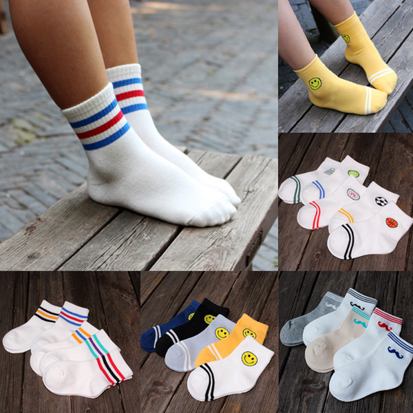 boys socks kids socks lot Children Socks Lot Classic Cotton Stripes Socks Children cartoon ankle socks 1-12Y boy