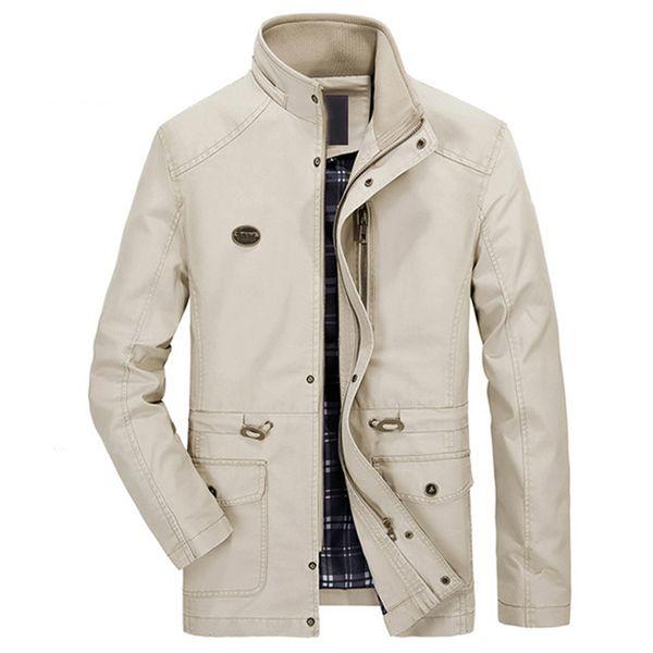 Atacado-China Import Business Masculino Casaco Trench Coats Plus 5XL Alta Qualidade Mens Inverno Brasão Outwear Branding Blusão Para Homens S2269
