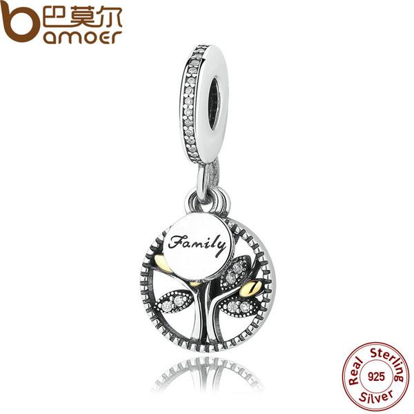 Breloque FAMILY TREE en argent sterling pour un bracelet et un collier de style Pandora