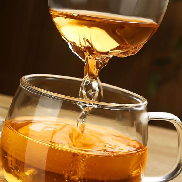 3Pcs/Set Transparent Clear Glass Milk Mug Coffee Tea Cup With Tea Infuser Filter Lid 2016 New