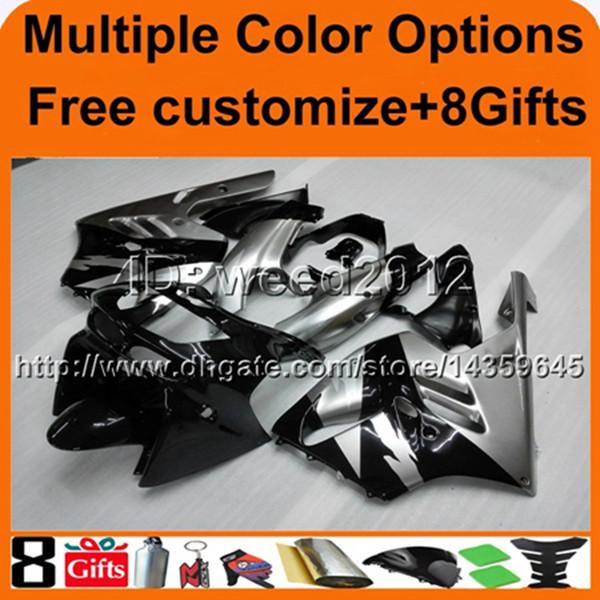 23colors+8Gifts BLACK ABS cowling zx-9r 1994 1995 1996 1997 motorcycle fairing for Kawasaki Ninja