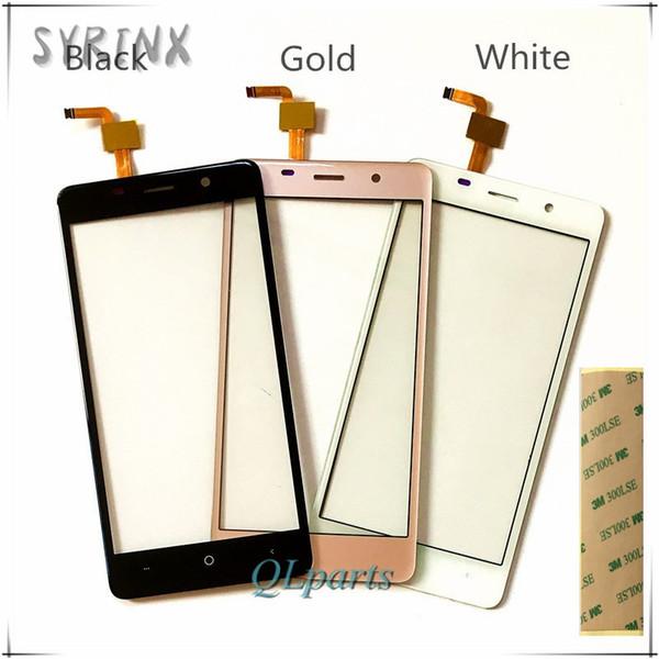Atacado-Syrnx + 3m Tape 5.7 polegadas Touchscreen Para Leagoo M8 Touch Screen digitador Painel de vidro frontal Replacemen Para Leagoo M8 Mobile Phone