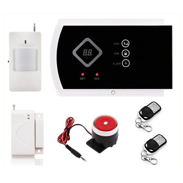 G10A Alarm System Wireless GSM SMS Android APP Control for Home Security Alarm Systems 850/900/1800/1900MHz