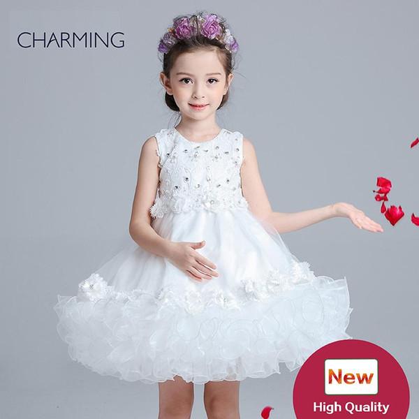 Vestidos brancos para as crianças flor menina vestido de atacado a partir de china vestidos de festa para meninas melhores produtos para importar da china dress flor menina