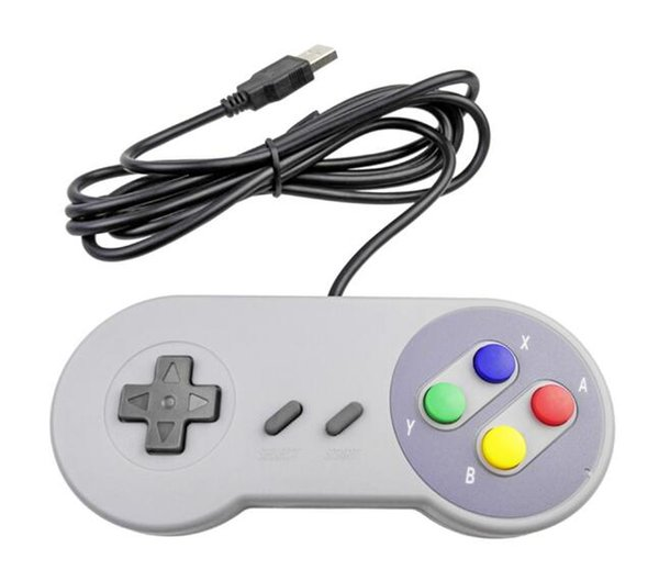 New Hot Retro Gaming for SNES USB Wired Classic Game Pad Joystick Game Controllers For XP WIN 7 8 10 VISTA MAC 50pcs a lot #408