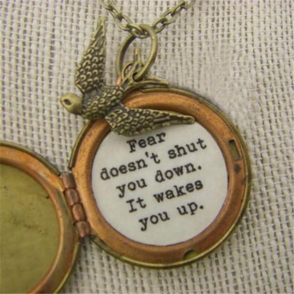 12pc Divergent Quote Locket divergent inspired necklace jewelry bronze antique jewelry