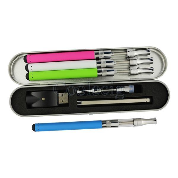 Bud touch O stylo vape stylo kit vaporisateur de verre cartouche 510 thread batterie. Réservoir de fée de verre de 5 ml avec boîtier en métal