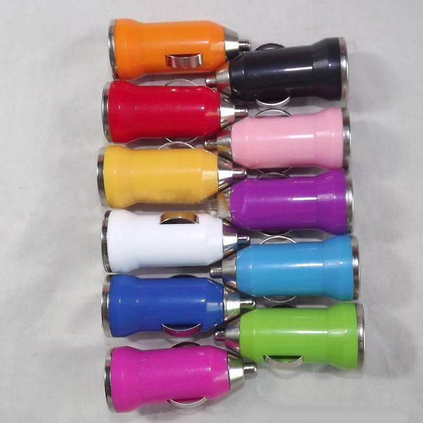 UniversalColorful Mini Portable Bullet Car Chargeur Adaptateurs pour téléphone mobile Android Téléphones MP3 MP4 MP5 GPS