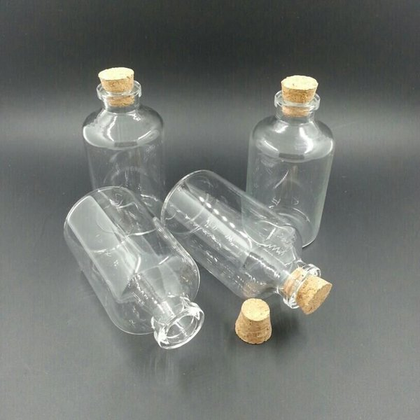 45ml Transparency Glass Bottles With Cork 40*63*12.5mm 25pcs/lot For Wedding Holiday Decoration Christmas Gifts
