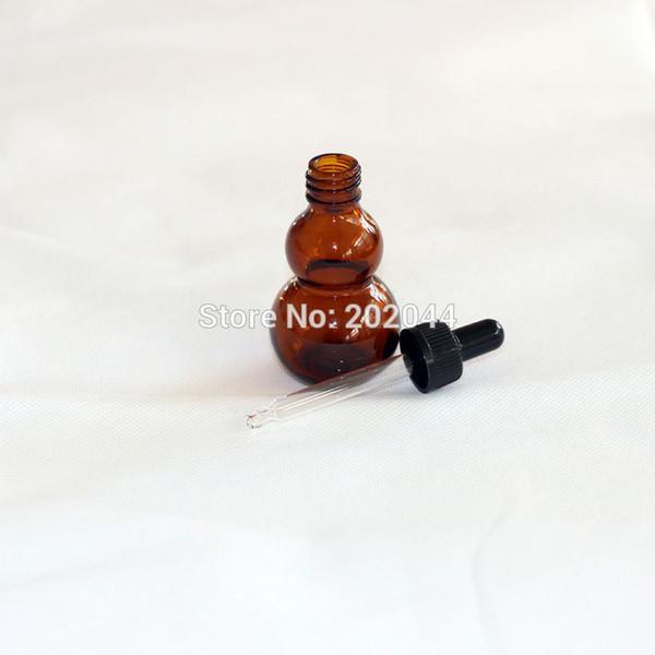 Commercio all'ingrosso - all'ingrosso 2PCS 30ml di vetro liquido reagente pipetta bottiglia di vetro con contagocce a testa rotonda di vetro, tappi di plastica