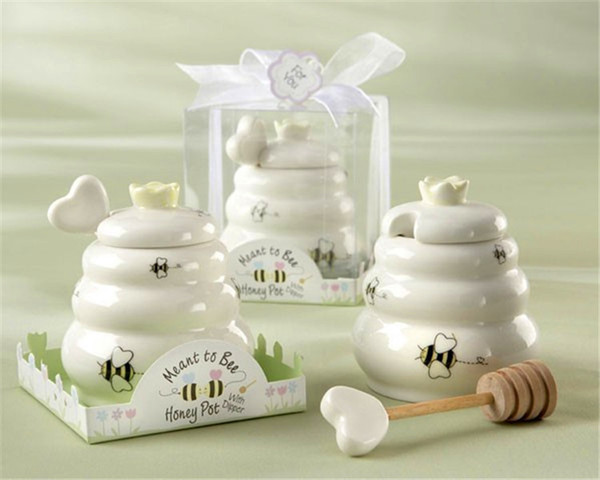 Ceramic Meant to Bee Honey Jar Wedding Favors And Gifts For Guests Souvenirs Decoration Event & Party Supplies