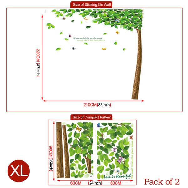 XL Grand arbre vert