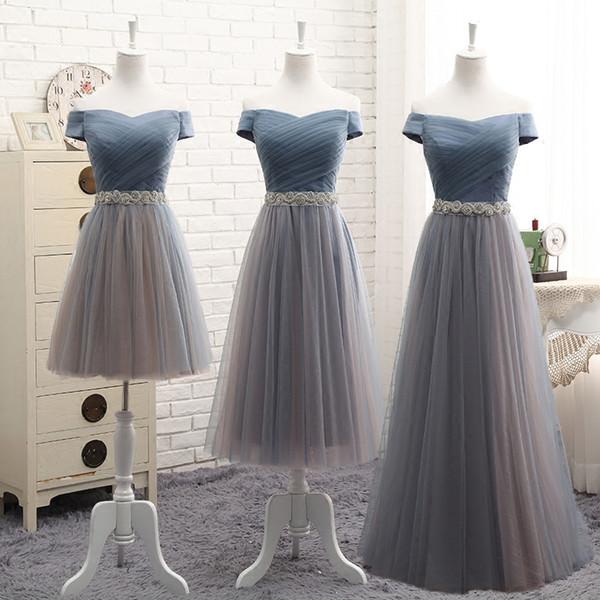 Compre Una Línea De Cinco Diseños Vestidos De Dama De Honor Fuera Del Hombro Pliegues Correas Moldeadas Elegantes Vestidos De Dama De Honor Vestidos