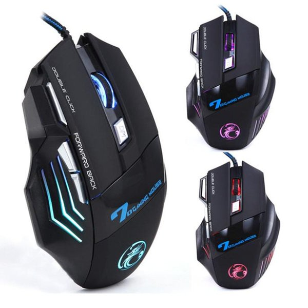 Wholesale- 2017 Top Brand X7 3200 DPI 7 Button LED Optical Gaming Mouse USB Wired gamer Mice computer Pro mouse For pc Free Ship Wholesale