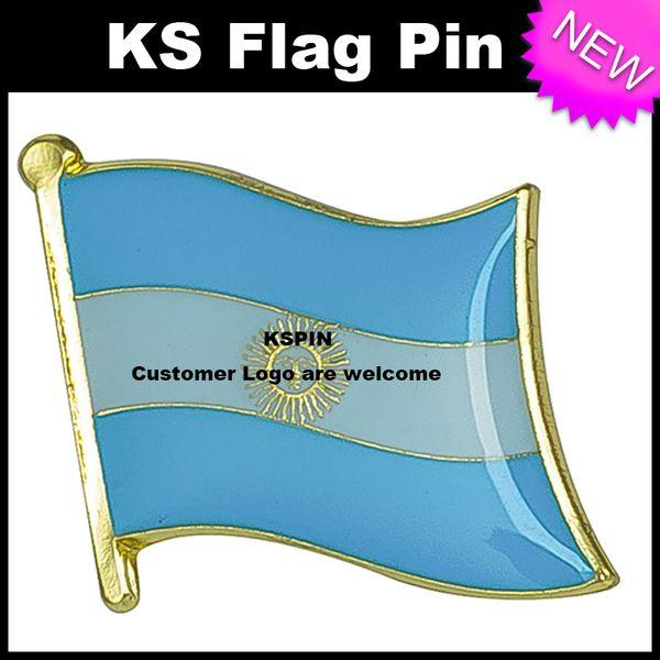 Argentina Flag Badge Flag Pin 10pcs a lot Free Shipping KS-0005
