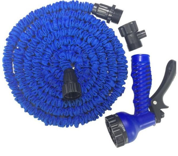 best selling 5pcs 100FT Expandable Flexible Garden Water Hose With Spray Nozzle Head 2 Colors G014