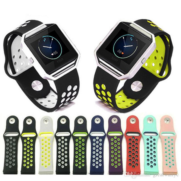 Per Fitbit Blaze Band Loop Loop Double Color Replacement Strap Braccialetto in silicone per Fitbit Blaze Braccialetti Accessori indossabili
