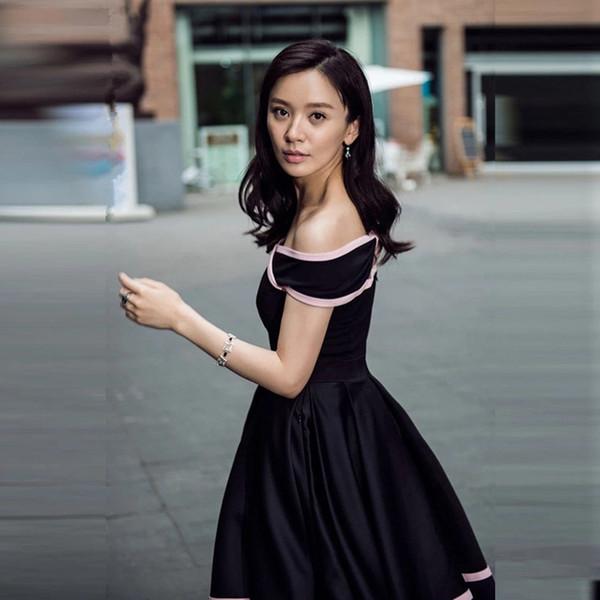 Großhandel Super! Elegantes Damen Kleines Schwarzes Patchwork Kleid ...