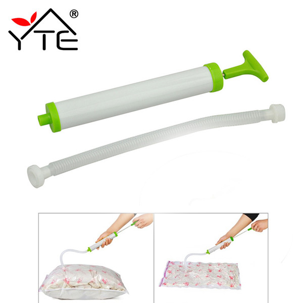 Wholesale- Portable Hand Air Vacuum Pump For Space Saver Saving Storage Bag Vacuum Seal Compressed Vacuum Bags Organizer