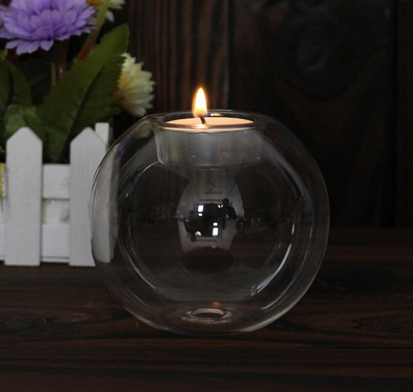 Romantic Crystal Glass Candle Holder Wedding Bar Party Home Decor Candlestick