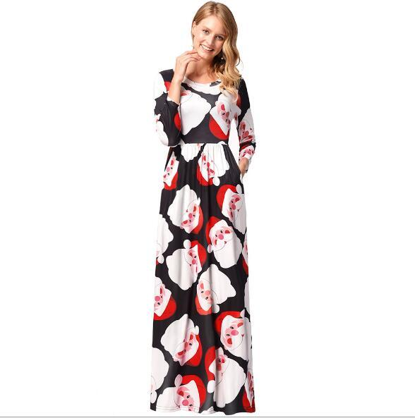 13 Colors Fashion Women Lady Christmas dress clothes Ladies Christmas costume girl Long Sleeves Casual Dresses Womens Clothing