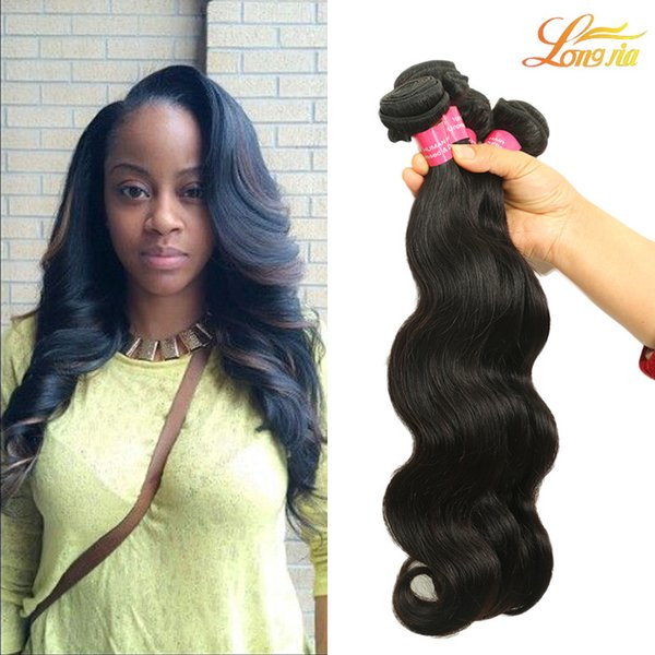 Factory 7A Brazilian Virgin Human Hair Body Wave Natural Color Can Be Dyed Unprocessed Brazilian Body Wave Machine Double Weft
