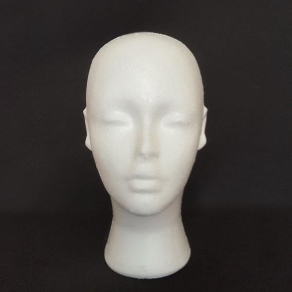 Nuovo arrivo parrucca Stand 1PC schiuma di polistirolo manichino modello femminile testa fittizia parrucca occhiali cappello display stand parrucca testa stand