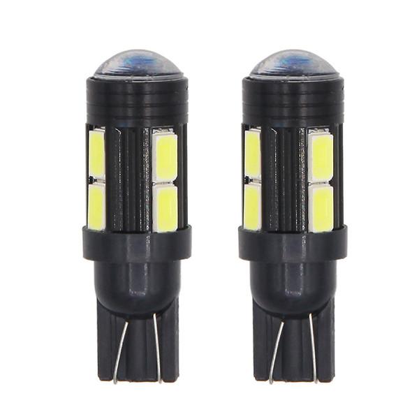 T10 10SMD w5w Car 10 LED 5630 Auto Plug Lamp Car Interior Side Light Wedge Bulb Plug Reading Interior Parking Projector Lens