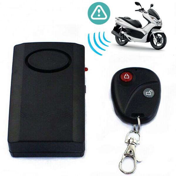 Nero Allarme per moto Moto Scooter Antifurto Sistema di sicurezza Allarme Telecomando wireless universale 120db