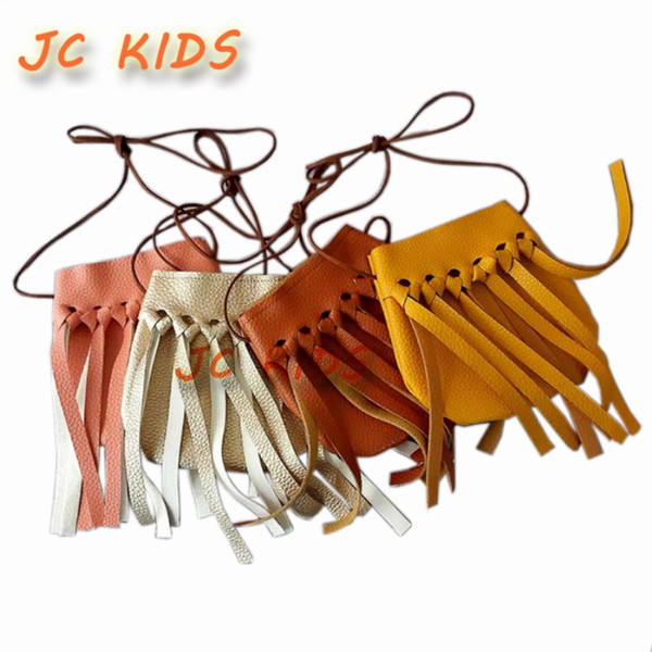 Wholesale- JC KIDS Fashion Baby Girls Coin Purses Handmade Kids Handbags Girl Tassel Bag Children Accessories girls tassel coin purses