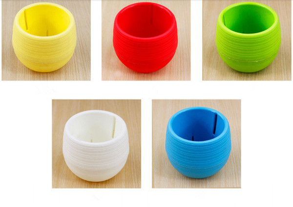5 colors Plastic Plant Pots Water Storage Flower Pot Indoor Potted Home Garden Decor Planter free shipping