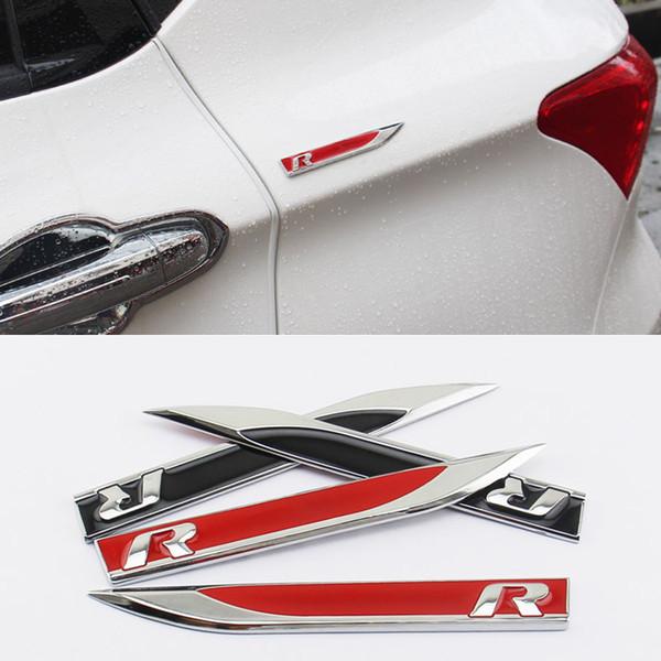 R Rline Blade Side Fender Abzeichen Emblem für Volkswagen Golf 4 6 7 Passat B5 B6 B7 Polo Touran Lavida Styling-Zubehör