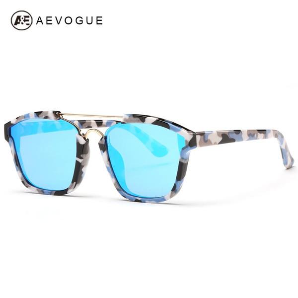 Toptan-AEVOGUE Güneş Kadınlar Yaz Tarzı Yansıyan Lens Marka Tasarımcısı UV400 Vintage Güneş Gözlükleri ulosculos De Sol Femininos AE0291