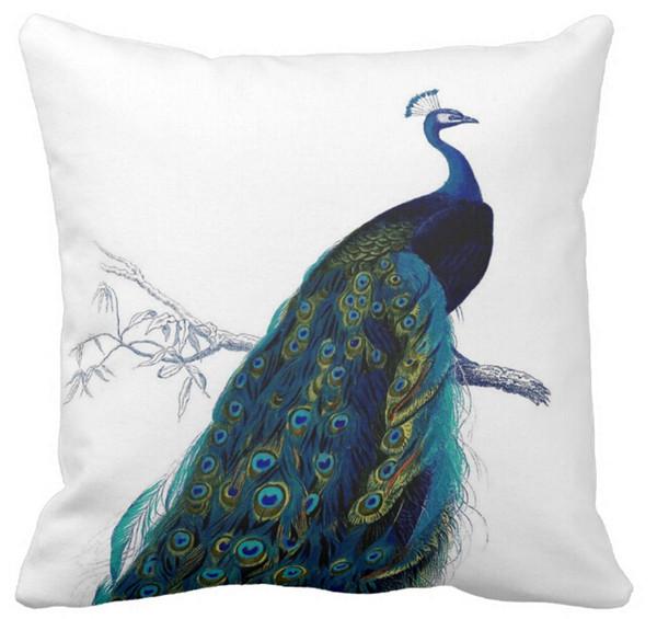24x24 vintage decorative throw pillows Blue couch pillows sofa chair pillows