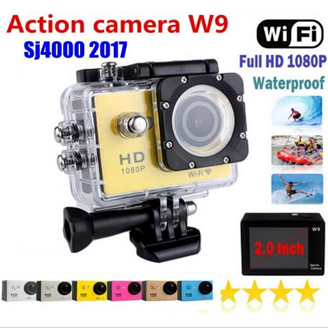 Ультра HD W9 действий камеры мини Wifi 140D 1080P Full HD 30 м водонепроницаемый HDMI xiaomi yi стиль тире видеокамеры Movimiento аксессуары