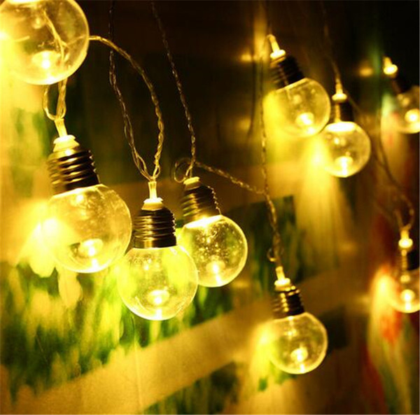 Novelty 10M 20 LED Globe Patio Outdoor Ball Fairy String Light Clear Bulb For Party Chirstmas Wedding Garden Pendant Garland