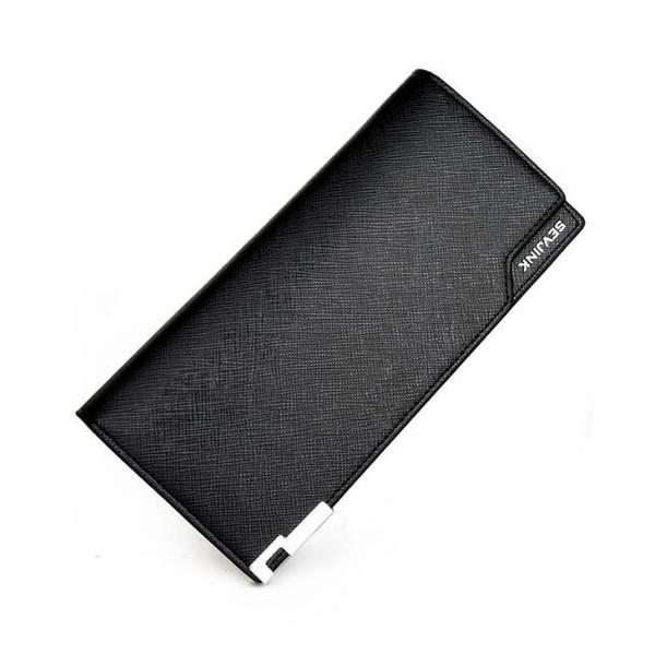 Moda lungo portafogli borsellini portafogli grande mens portafogli in pelle tri fold portafoglio per uomo all'ingrosso e al dettaglio