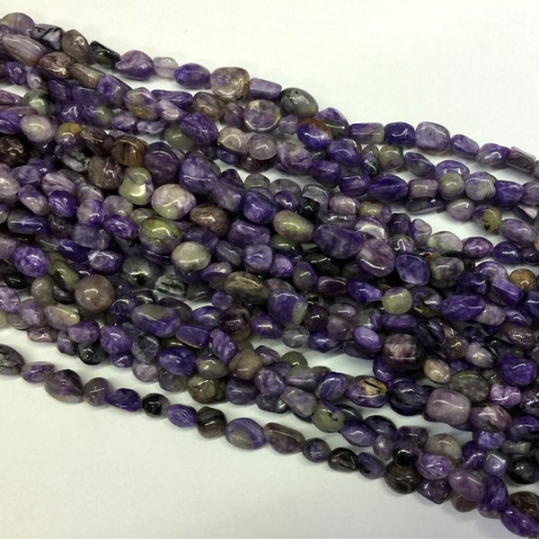 Full Strand Charoite Pebble Chips Nugget Free Form Natural Gemstone Beads