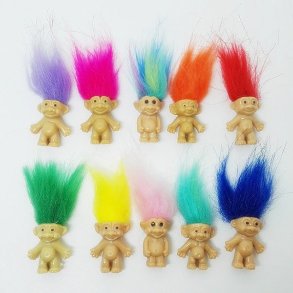 Free shipping 5pcs/lot Colorful Hair mini Doll toys cute party favors Family Members Daddy Mummy Baby Boy Girl Dam Toy Gifts