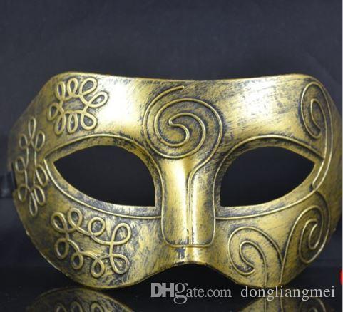 Cariel Mardi Gras için Greco-Roman Erkek Maske Masquerade Gladyatör masquerade Vintage Altın / Gümüş gümüş Karnaval Cadılar Bayramı Maskeleri h22b