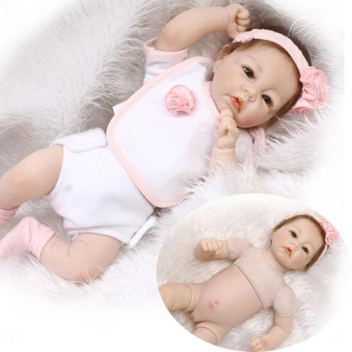 Recycling Doll Toy Gift 22''Handmade Lifelike Girl Baby Doll Reborn Newborn Silicone Vinyl Dolls And Clothes