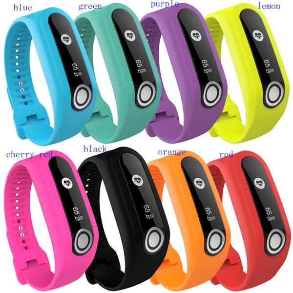 best selling 2017 watch strap silicone For TomTom Touch Cardio Activity Tracker fashion Colorful sports watchband high quality