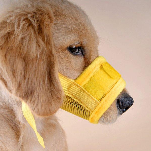 Pet Dog Adjustable Mask Bark Bite Mesh Nylon Safety Mouth Muzzle Grooming Anti Stop Chewing Free Shipping ZA3953