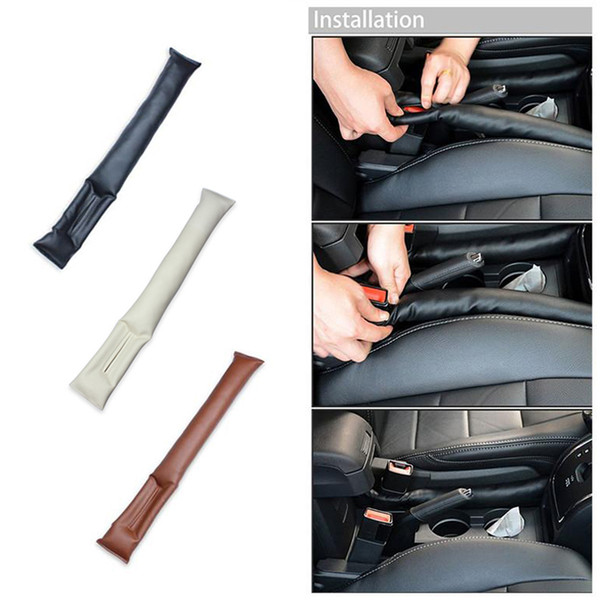 top popular Car Seat Hand Brake Gap Holster Spacer Filler Padding Auto Cleaner Plug Stopper 2019