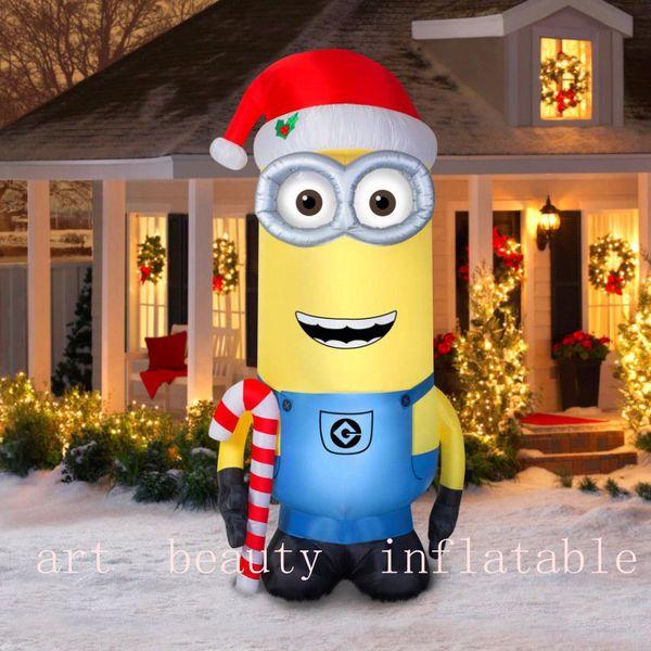 Minion Christmas.2019 10ft Big Inflatable Minion Christmas Yard Decoration From Sky51982015 482 42 Dhgate Com