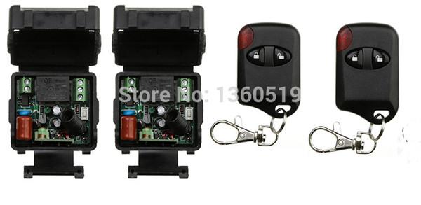 Wholesale- 2PCS/lot AC220V 1CH 10A Receiver &Transmitter RF Wireless Mini Remote Control Switch 1CH Interruptor 10A Light Lamp LED SMD