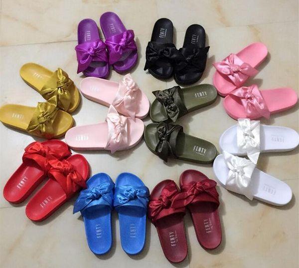 unionwholesale2 / Zapatos Leadcat Fenty Rihanna Zapatillas para mujer Sandalias de interior Zapatillas de moda para niñas Rosa Negro Blanco Gris Diapositivas de piel